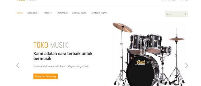 contoh program ta toko musik online